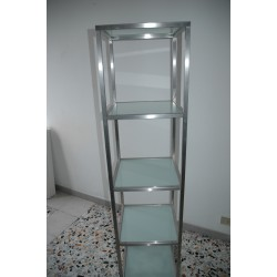 steel glass tower 5 shelves
